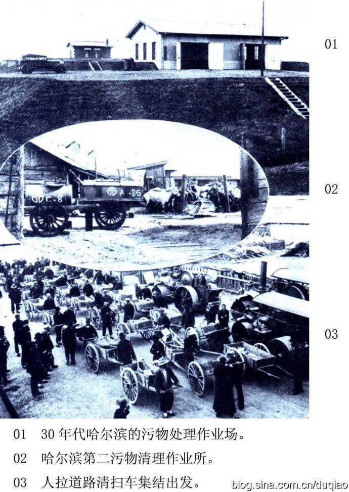 哈尔滨旧影 210-哈尔滨污物处理作业